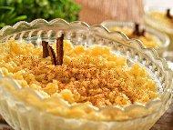 Рецепта Мляко с ориз, пъпеш и бадеми